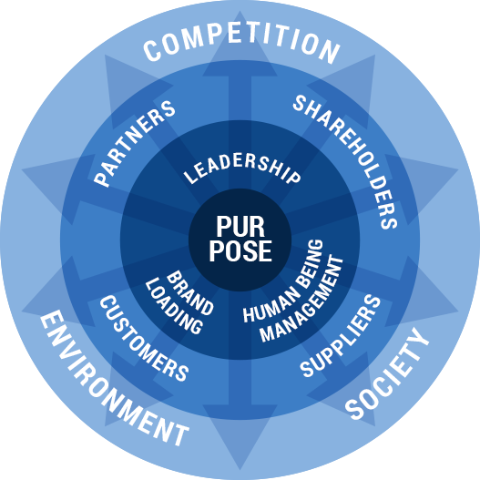 Four stage development model of  becoming a successful and fast-growing companies are driven by Purpose